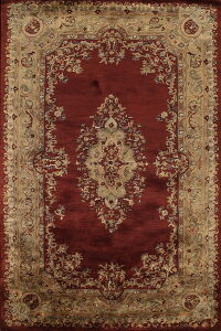 Victorian Style Red Agra Oriental Area Rug 6x9