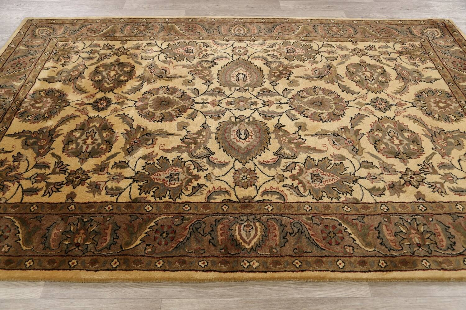 All-Over Floral Agra Oriental Area Rug 6x9 image 13