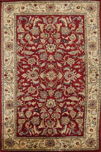 All-Over Red Floral Agra Oriental Area Rug 5x8