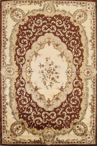 Victorian Style Floral Aubusson Oriental Area Rug 6x9