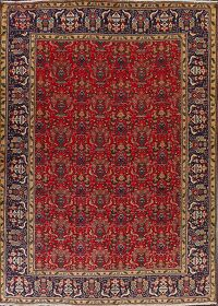 All-Over Pictorial Floral Tabriz Persian Area Rug 10x13