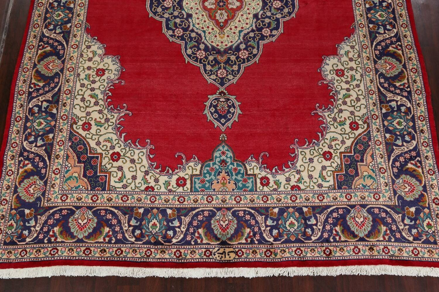 Floral Red Tabriz Persian Area Rug 10x13 image 8