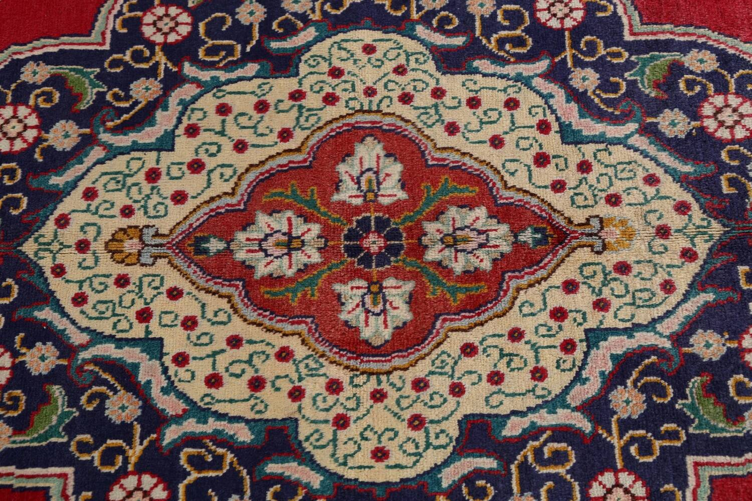 Floral Red Tabriz Persian Area Rug 10x13 image 12