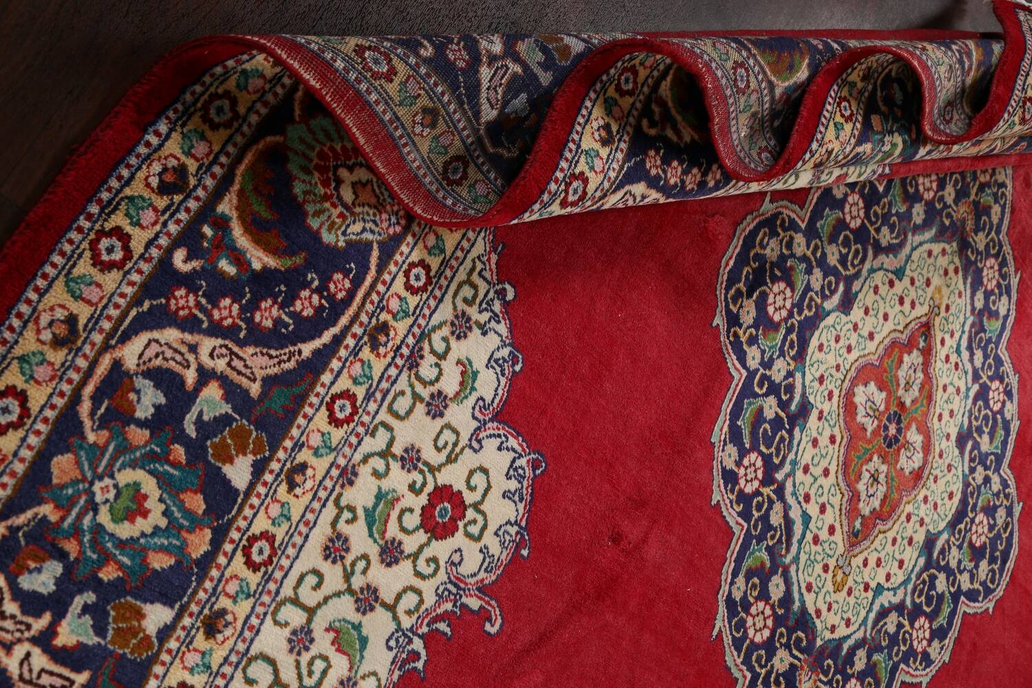 Floral Red Tabriz Persian Area Rug 10x13 image 20
