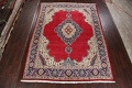 Floral Red Tabriz Persian Area Rug 10x13 image 2