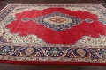Floral Red Tabriz Persian Area Rug 10x13 image 17
