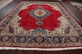 Floral Red Tabriz Persian Area Rug 10x13 image 18