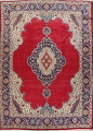 Floral Red Tabriz Persian Area Rug 10x13 image 1