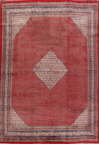 Vintage Boteh Red Botemir Persian Area Rug 10x13