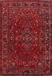 Floral Red Lilian Persian Area Rug 9x13