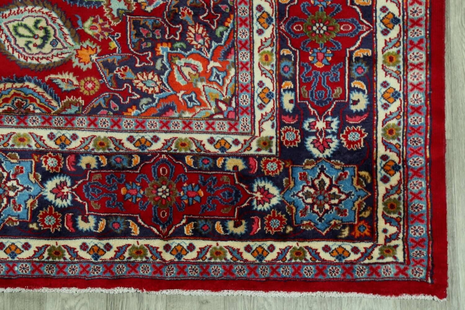 Floral Red Mashad Persian Area Rug 10x13 image 5