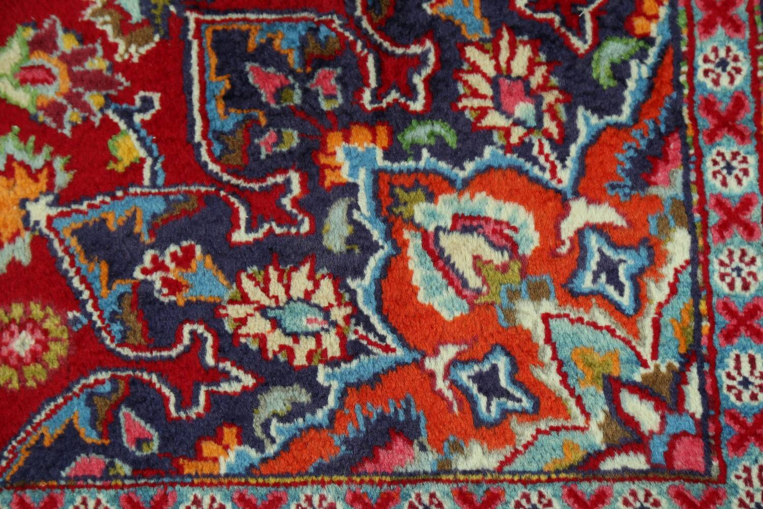 Floral Red Mashad Persian Area Rug 10x13 image 10
