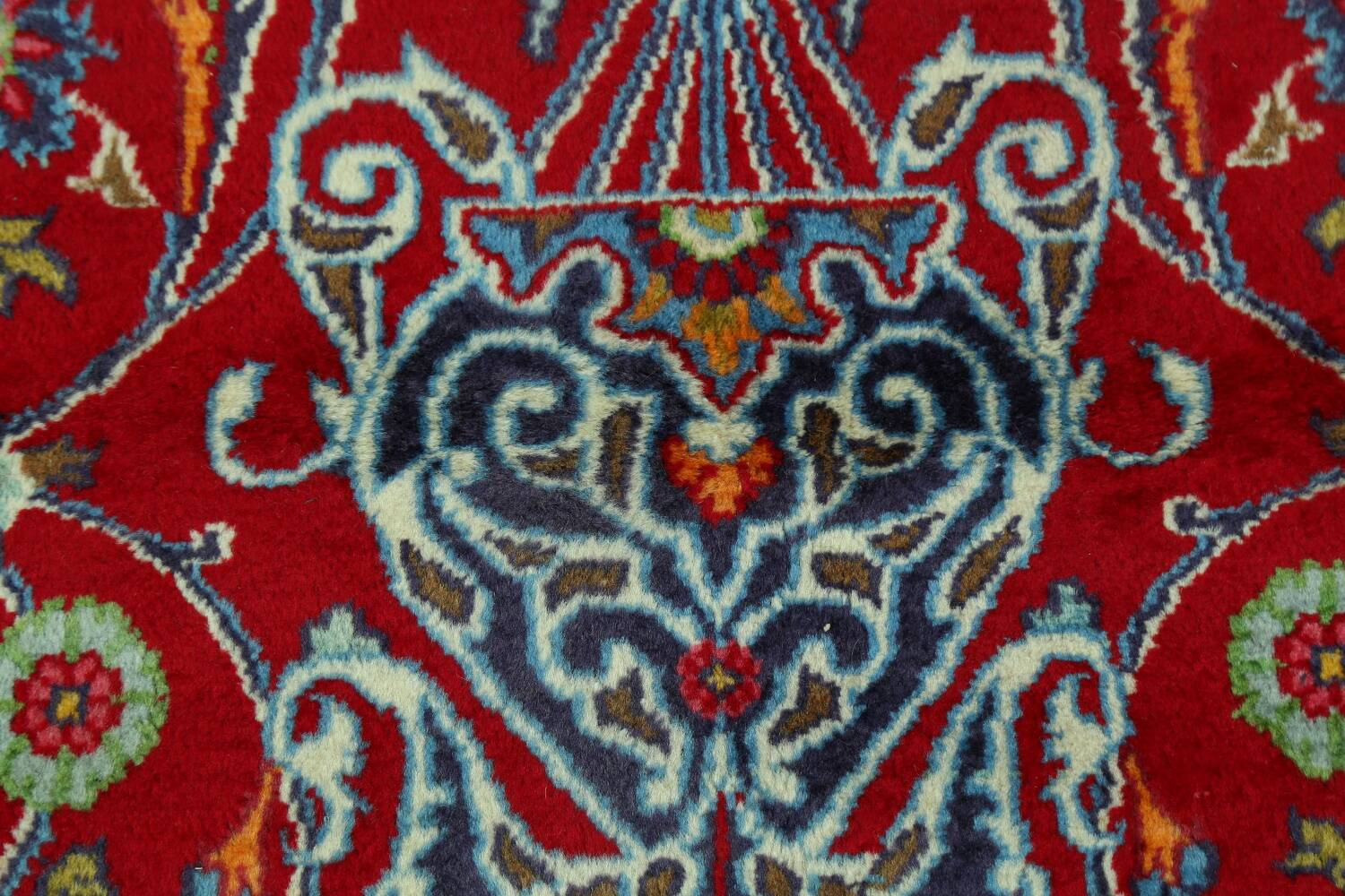 Floral Red Mashad Persian Area Rug 10x13 image 11