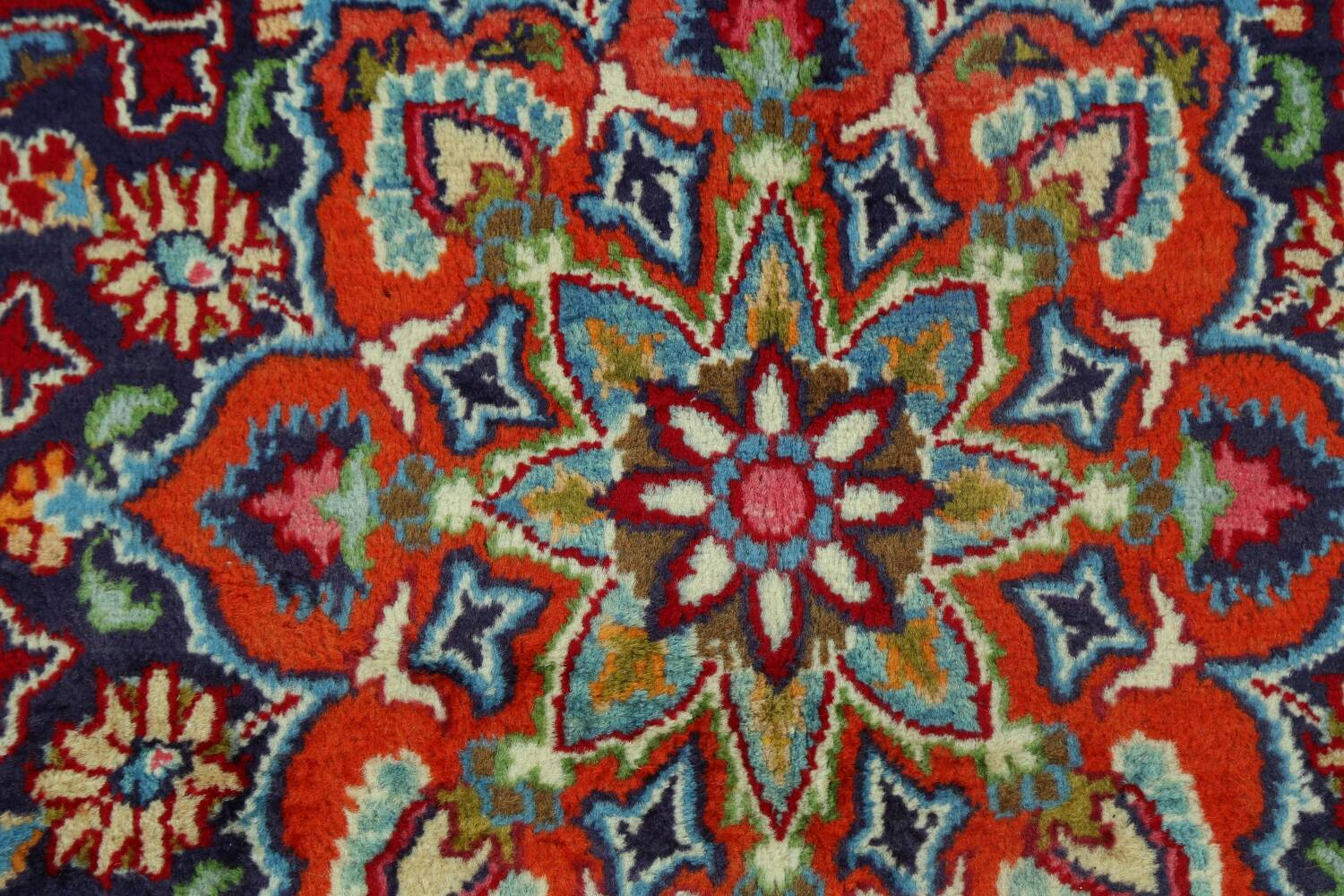 Floral Red Mashad Persian Area Rug 10x13 image 12