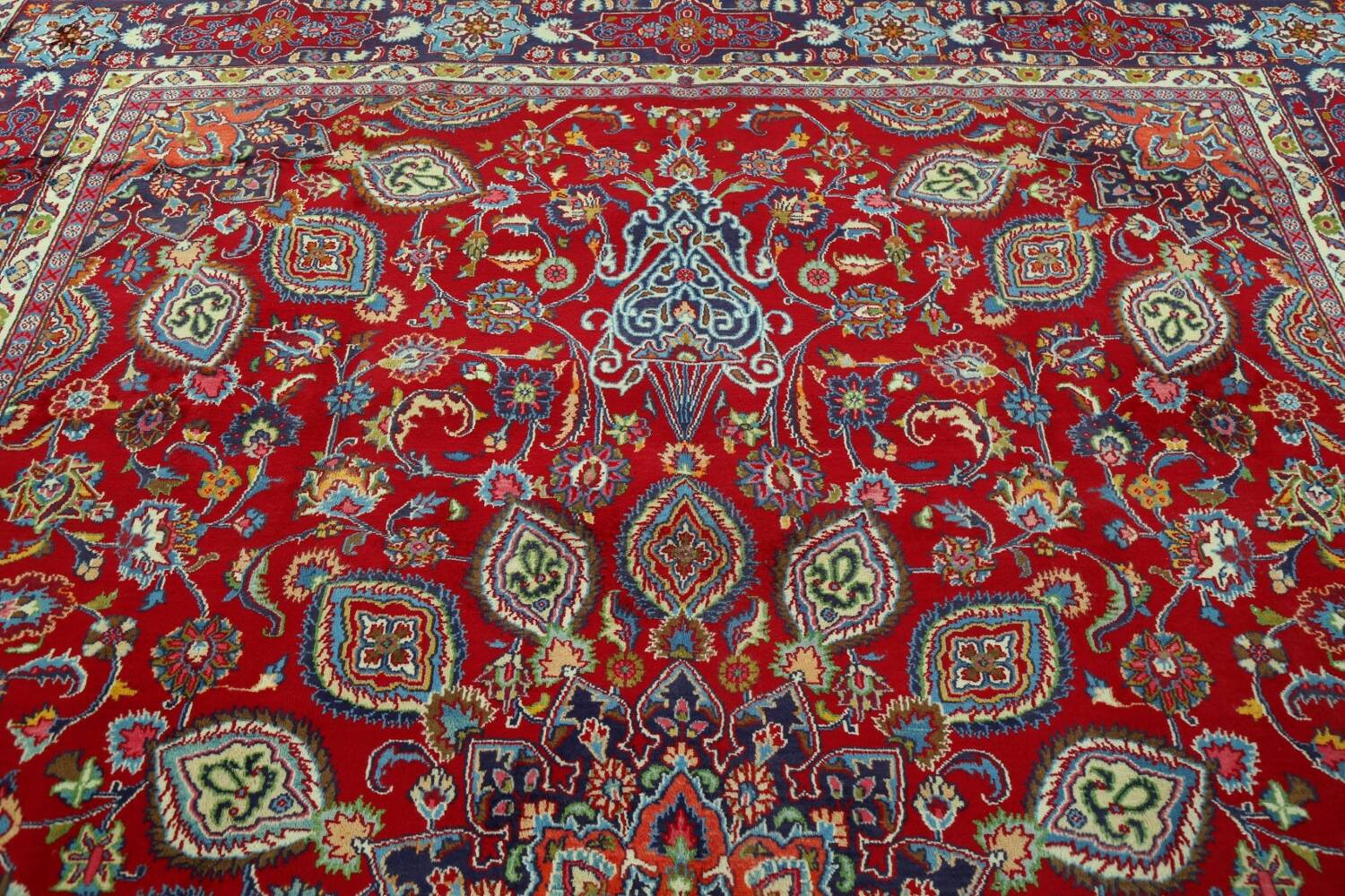 Floral Red Mashad Persian Area Rug 10x13 image 13