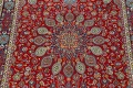 Floral Red Mashad Persian Area Rug 10x13 image 4