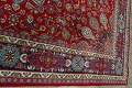 Floral Red Mashad Persian Area Rug 10x13 image 14
