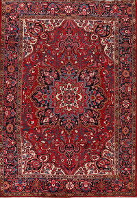 Vintage Floral Red Heriz Persian Area Rug 8x12