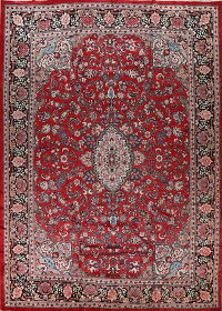 Vintage Floral Red Sarouk Persian Rug 11x14 Large