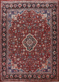 Antique Floral Red Mahal Persian Area Rug 10x13