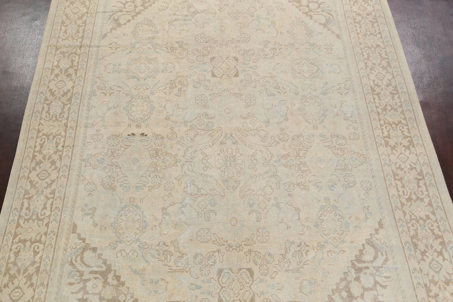 Antique Floral Mahal Persian Area Rug 9x12 image 3
