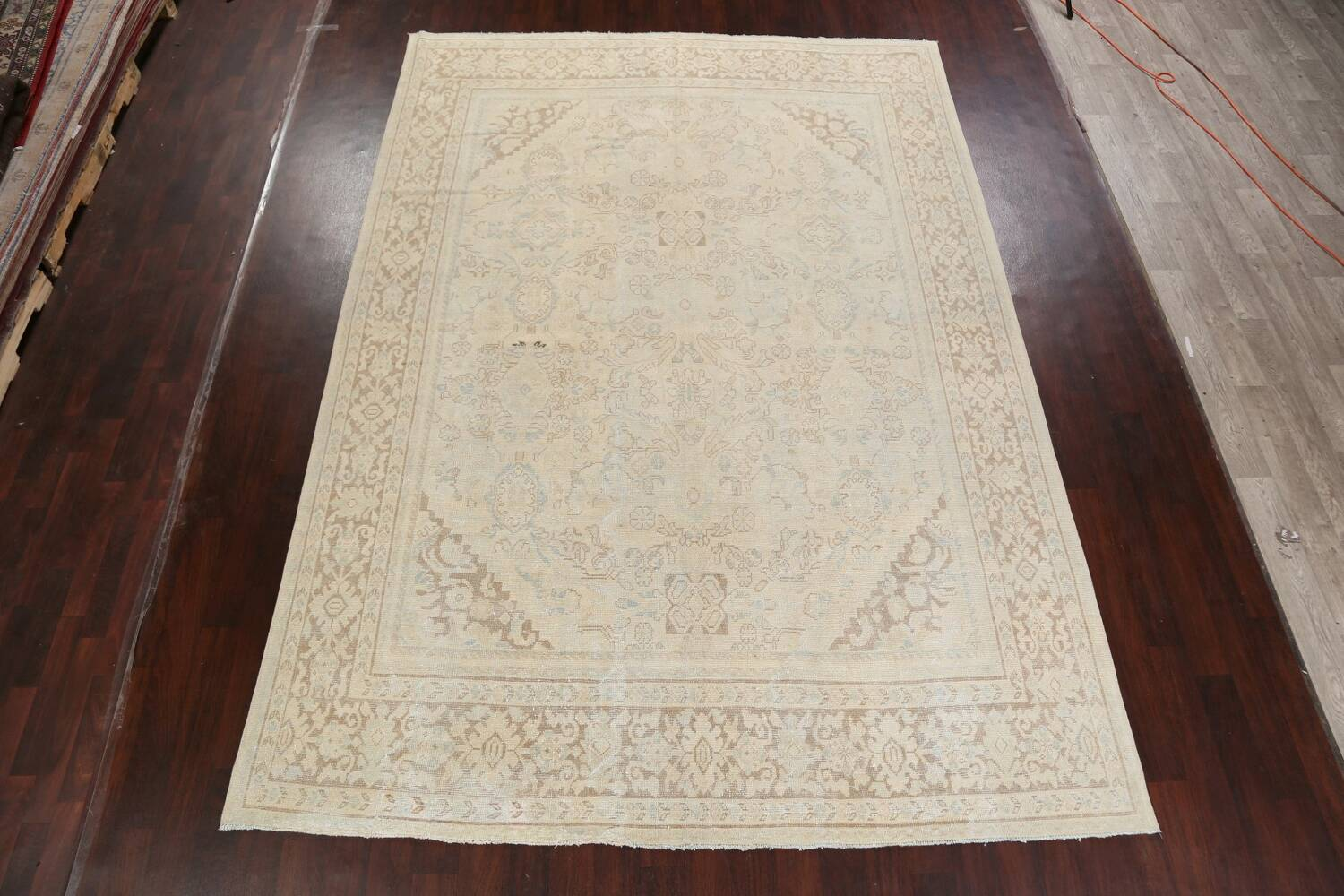 Antique Floral Mahal Persian Area Rug 9x12 image 2