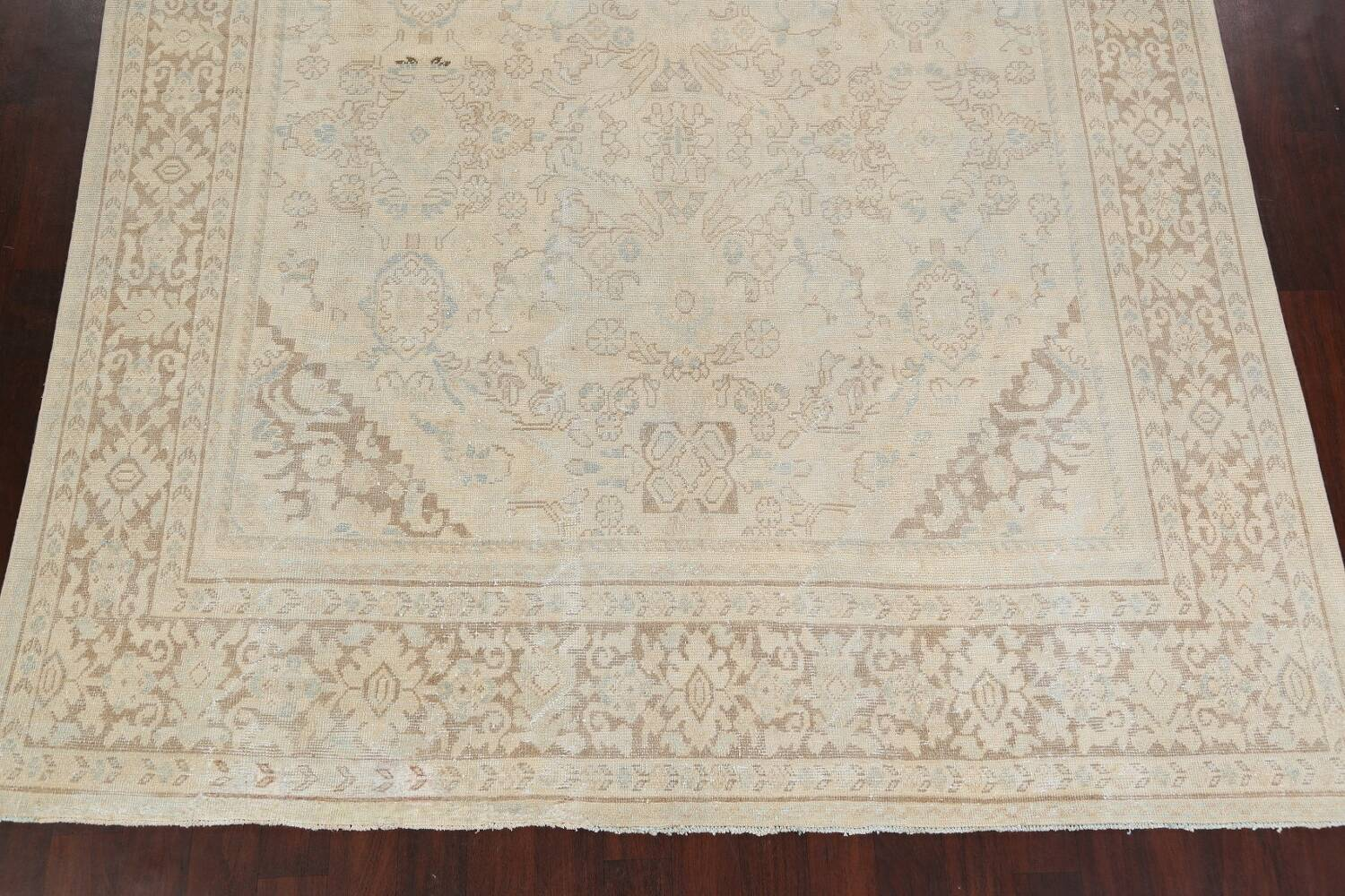 Antique Floral Mahal Persian Area Rug 9x12 image 8