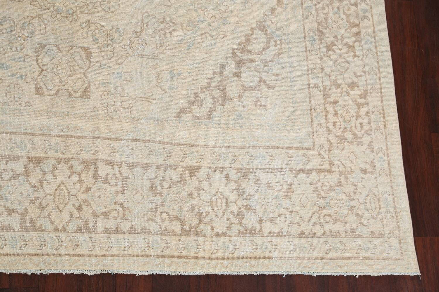 Antique Floral Mahal Persian Area Rug 9x12 image 5