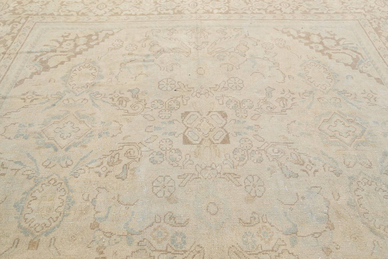 Antique Floral Mahal Persian Area Rug 9x12 image 12