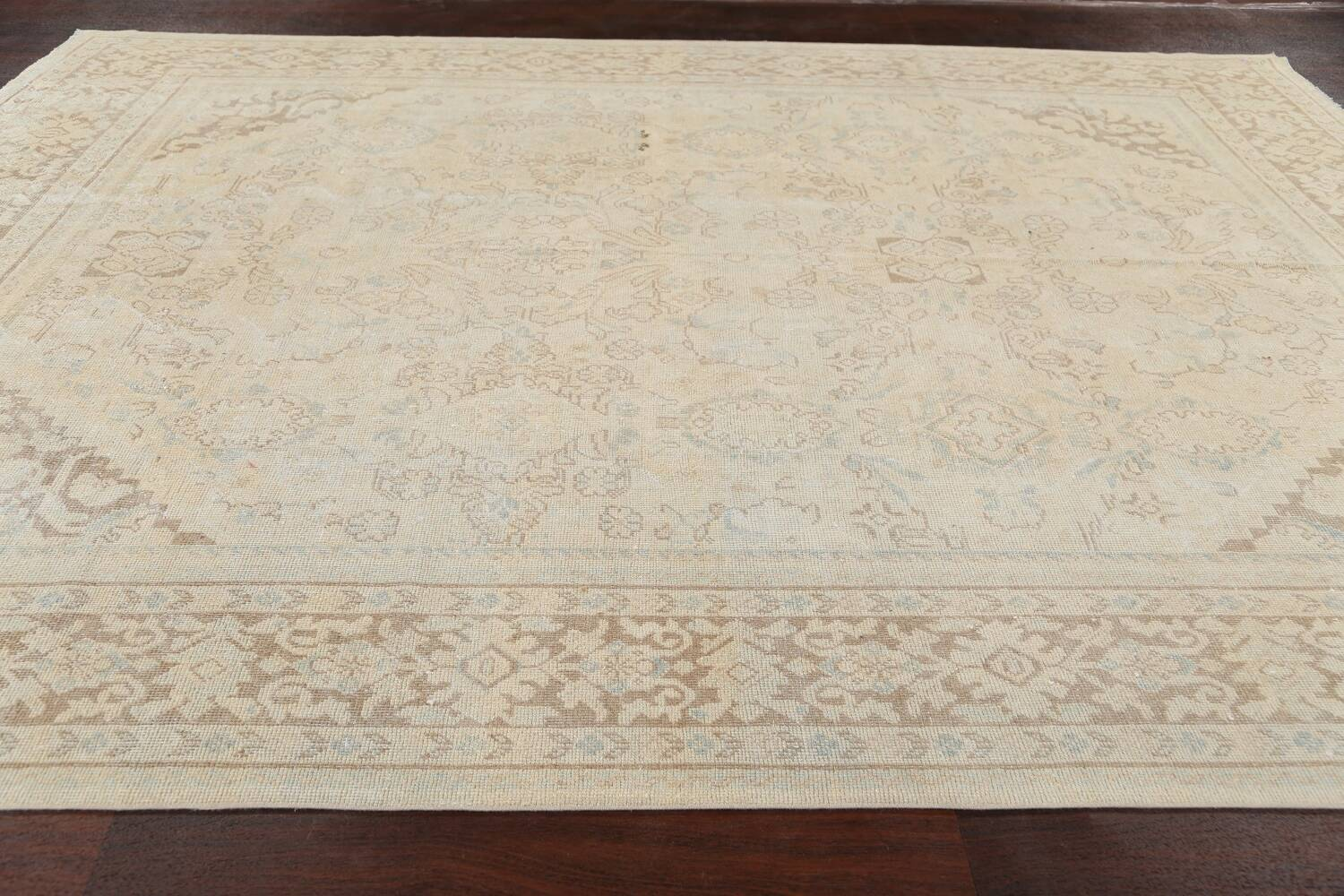 Antique Floral Mahal Persian Area Rug 9x12 image 14