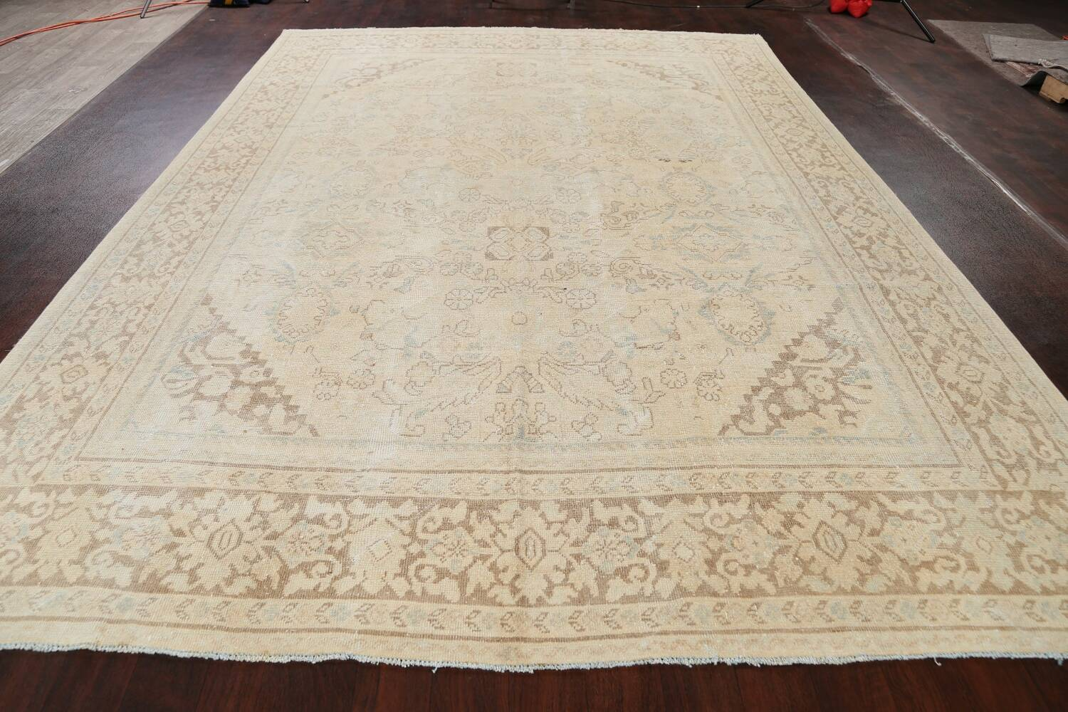 Antique Floral Mahal Persian Area Rug 9x12 image 15