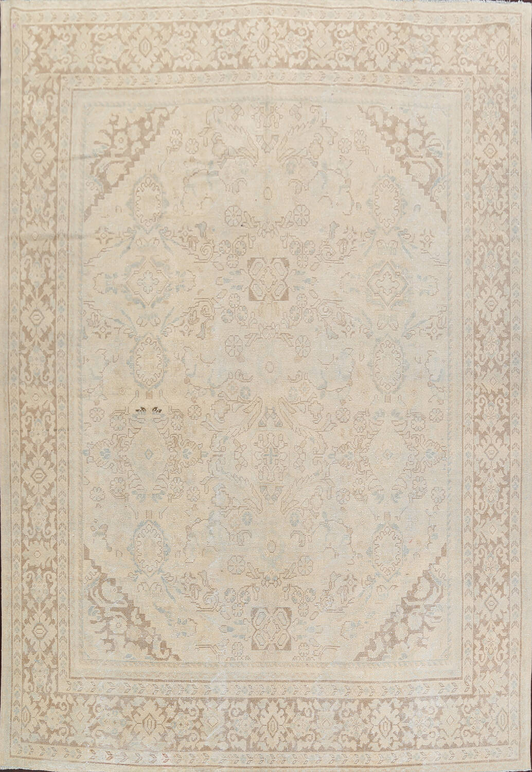 Antique Floral Mahal Persian Area Rug 9x12 image 1
