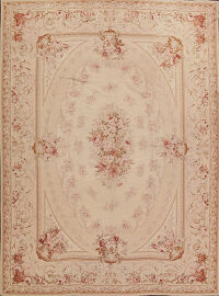 Victorian Style Needlepoint Aubusson Chinese Area Rug 9x12