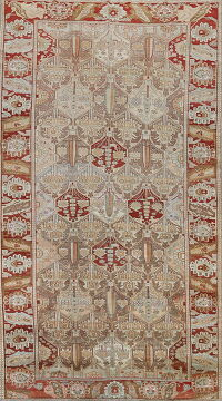 Antique Garden Design Bakhtiari Persian Area Rug 7x13