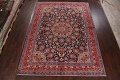Navy Blue Floral Mashad Persian Area Rug 9x13 image 2