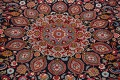 Navy Blue Floral Mashad Persian Area Rug 9x13 image 4
