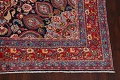 Navy Blue Floral Mashad Persian Area Rug 9x13 image 5