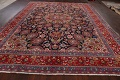 Navy Blue Floral Mashad Persian Area Rug 9x13 image 16