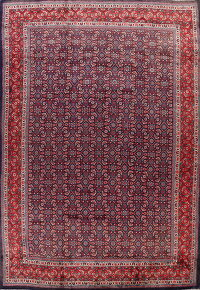 Vintage All-Over Sarouk Persian Area Rug 9x14
