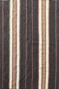 Vintage Stripe Kilim Turkish Area Rug 6x8