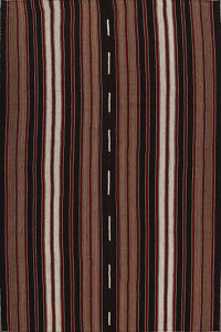 Stripe Kilim Turkish Area Rug 7x11