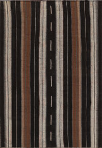 Stripe Hand-Woven Kilim Turkish Area Rug 8x10