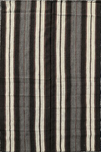 Stripe Hand-Woven Kilim Turkish Area Rug 6x9