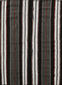 Stripe Hand-Woven Kilim Turkish Area Rug 6x8