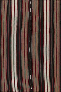 Stripe Kilim Turkish Area Rug 7x10