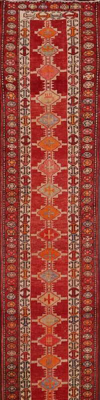 Geometric Oushak Turkish Oriental Runner Rug 3x16