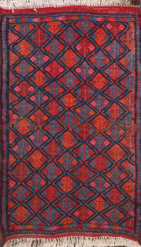 All-Over Geometric Balouch Persian Rug 2x3