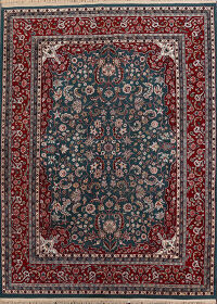 Floral Green Kashan Oriental Area Rug 8x10