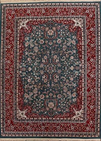 Floral Green Aubusson Oriental Area Rug 8x10