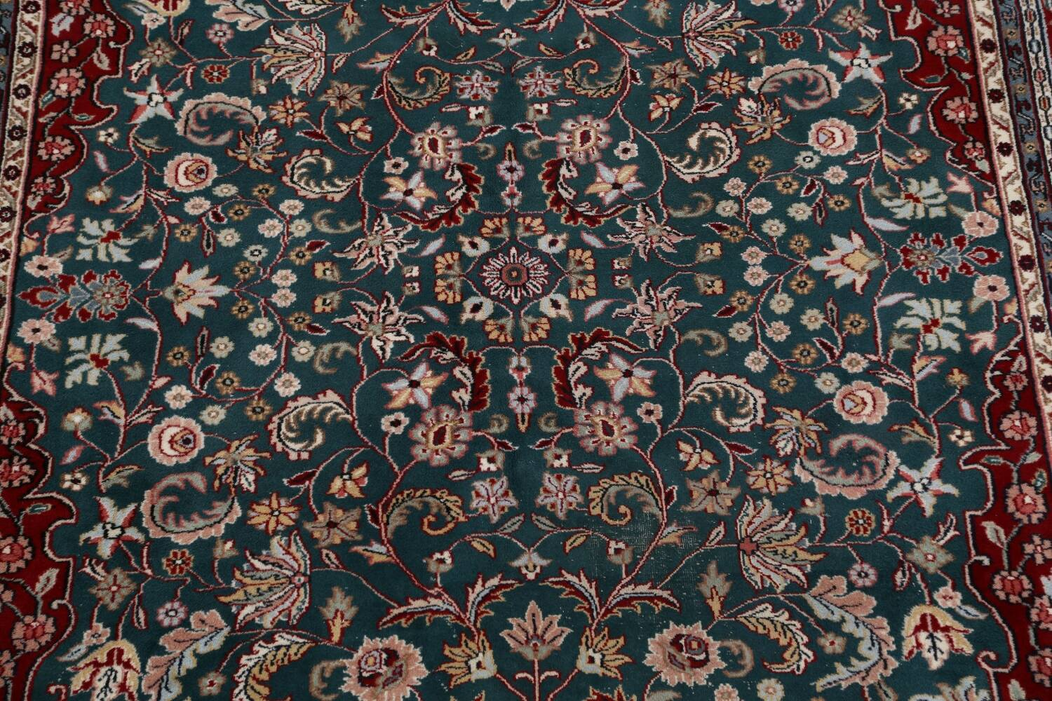 Floral Green Aubusson Oriental Area Rug 8x10 image 4